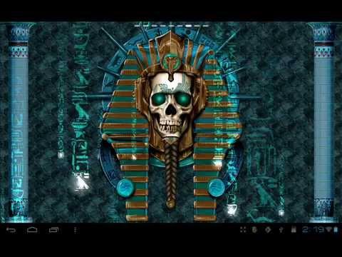 Undead Pharaoh Skull Wallpaper Video