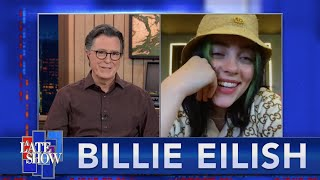 """""""You're Seeing A Sliver Of My Life At That Time"""" - Billie Eilish Talks To Stephen Colbert - EXTENDED"""