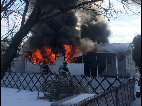 Clifton NJ FIre Department 2nd Alarm Working Fire WIth Collapse And EVAC Tones 2-22-15