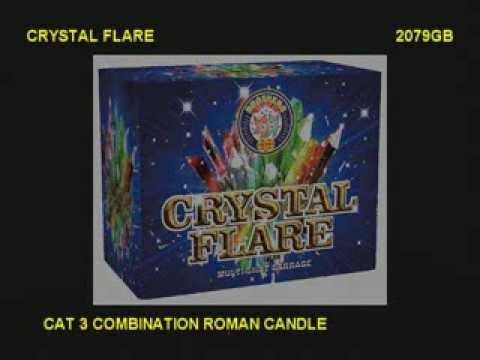 Brothers Pyrotechnics Crystal Flare - 28 shot firework