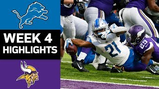 Lions vs. Vikings | NFL Week 4 Game Highlights