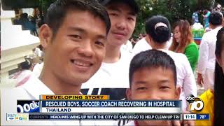 Thai boys and coach recover in hospital
