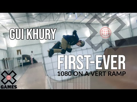 GUI KHURY: Worlds First Skateboarding 1080 on Vert! - World of X Games