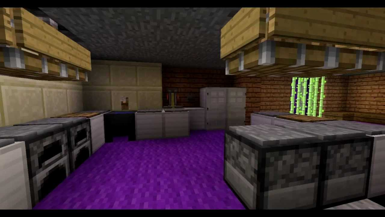 minecraft moderne k che mit redstone youtube. Black Bedroom Furniture Sets. Home Design Ideas