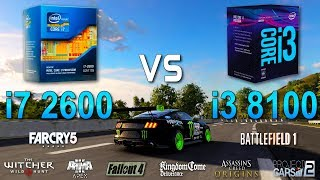 i7 2600 vs i3 8100 Test in 8 Games