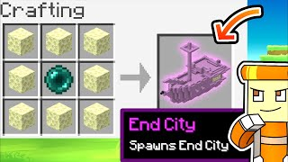 Minecraft but you can CRAFT STRUCTURES