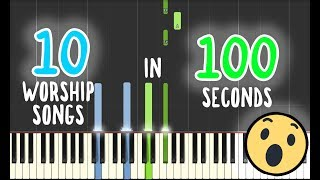 Best Piano Medley Worship Songs | PIANO TUTORIAL by Betacustic