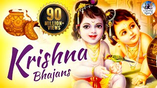 NON STOP BEST KRISHNA BHAJANS - BEAUTIFUL COLLECTION OF MOST POPULAR SHRI KRISHNA SONGS
