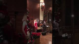 "Christy Moser singing ""The Christmas Song"" with Guitarist, Simon Lugg"
