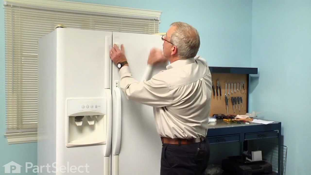 Refrigerator Repair Replacing The Door Handle Frigidaire