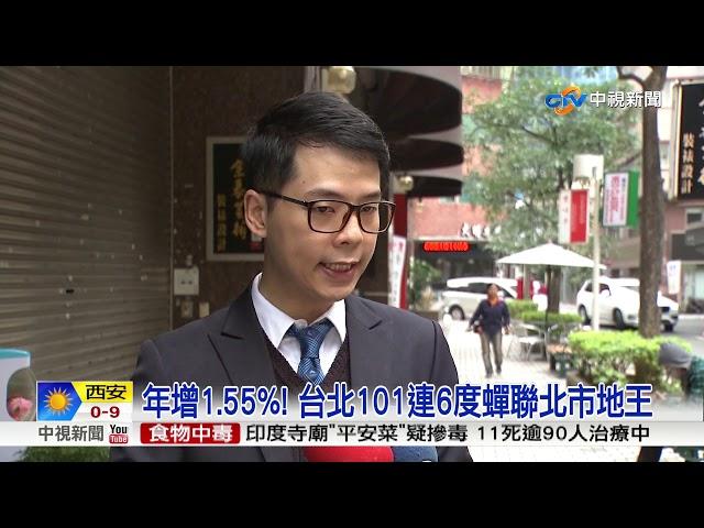 台北101稱霸地王 帝寶蟬聯8年登最貴住宅