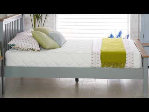 New Hampshire High End Bed - Grey & Oak