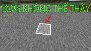 Cách Xây Đường Hầm Bí Mật Mà Cả Thánh Minecraft Cũng Không Thể Thấy ! - Minecraft PE