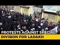 Kargil Residents Brave Bone-Chilling Cold To Protest Centres Ladakh Division Move