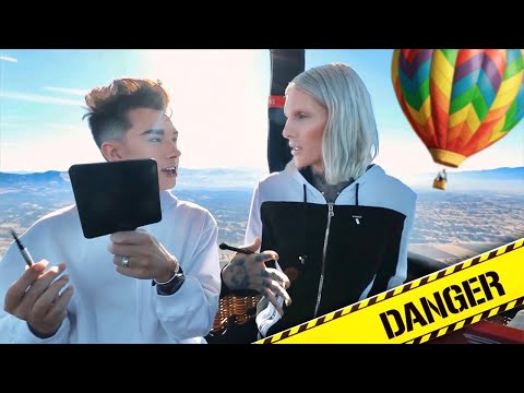 DOING OUR MAKEUP IN A HOT AIR BALLOON ft. JAMES CHARLES