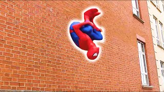 SPIDERMAN Fights Crime in Real Life | Parkour, Flips & Kicks