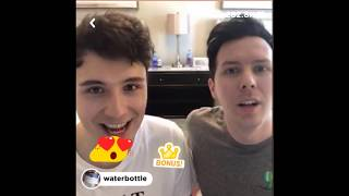 dan and phil rize liveshow 19/07/18 (a really badly filmed version i'm sorry)