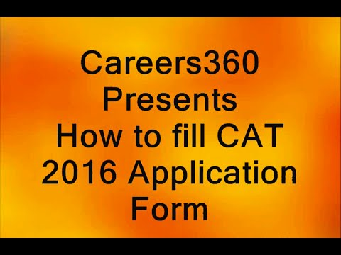 CAT 2016 Application Form – How to Fill Step-by-Step
