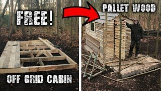 Building an Off Grid Cabin using Free Pallet Wood: A Wilderness Project