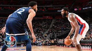 Karl-Anthony Towns, Andre Drummond face off in heated Timberwolves vs. Pistons game   NBA Highlights