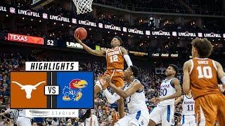 Texas vs. No. 17 Kansas Basketball Highlights (2018-19) | Stadium