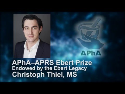 Christoph Thiel - 2016 Ebert Prize Recipient