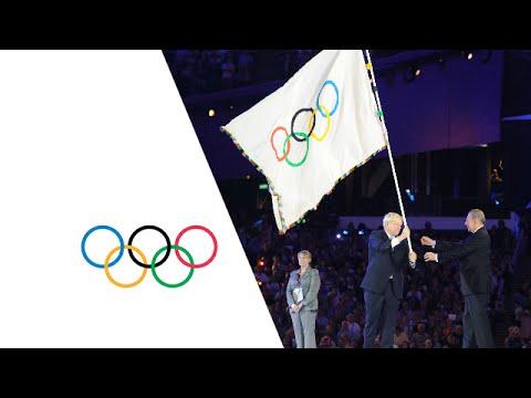 London Handover To Rio (Raising Of The Flags) - Closing Ceremony   London 2012 Olympics