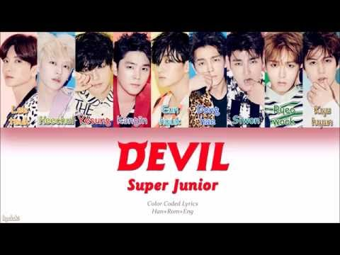 Super Junior (슈퍼주니어) – DEVIL (Color Coded Lyrics) [Han/Rom/Eng]