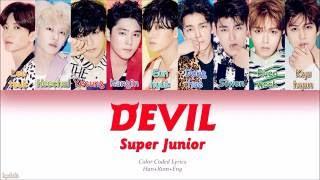 Super Junior (슈퍼주니어) – DEVIL (Color Coded Lyrics) [Han/Rom/Eng]