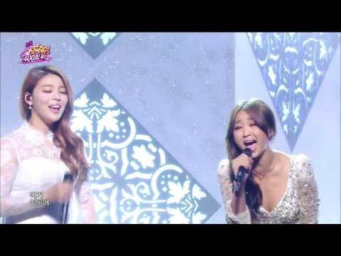 [HOT] Ailee & Hyorin(SISTAR) - Let it go, 에일리 & 효린 - 렛잇고, Celebration 400th Show Music core 20140308