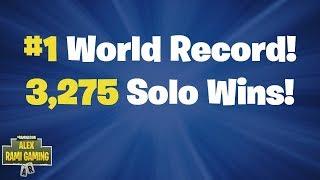 #1 World Record 3,275 Solo Wins | Fortnite Live Stream