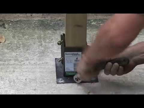 How To Install A Fence Post Onto Concrete Youtube