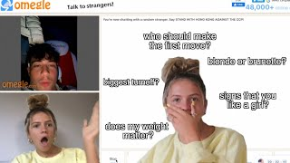 asking guys on omegle questions girls are too afraid to ask... AWKWARD