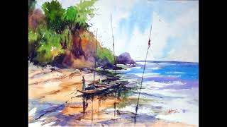 Water Color Painting by Indian Artist Antara Chowdhury.