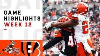 Browns vs. Bengals Week 12 Highlights | NFL 2018