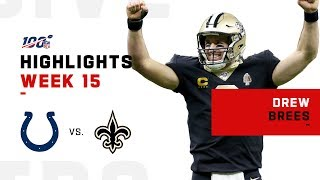Every Pass from Drew Brees' Record Setting Night (29/30) | NFL 2019 Highlights