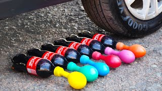 Experiment: Car vs Coke and Mentos with Balloons