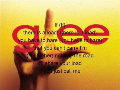 GLEE- LEAN ON ME! with lyrics