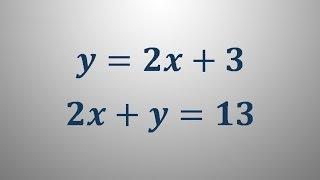 Sistem dveh linearnih enačb 1