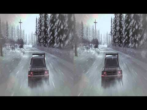 (3D & 4K) Dirt 3 3840x2160 Norway @ Snow Storm (Ultra HD) Oculus Rift