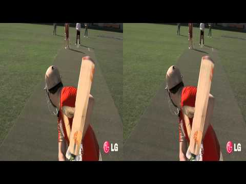 LG 3D Demo - Cricket