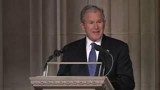 George W Bush full eulogy at George HW Bush funeral [FULL VIDEO]