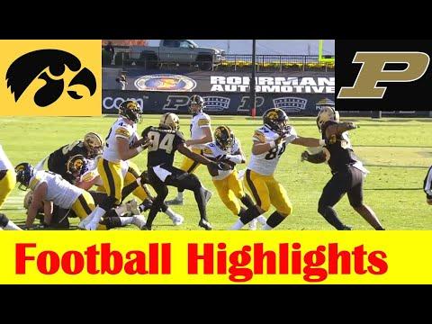 Iowa vs Purdue Football Game Highlights 10 24 2020