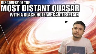 Discovery of the Farthest Quasar Ever With Unusually Large Black Hole