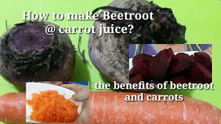 How to make beetroot @ carrot juice?Kabayan style