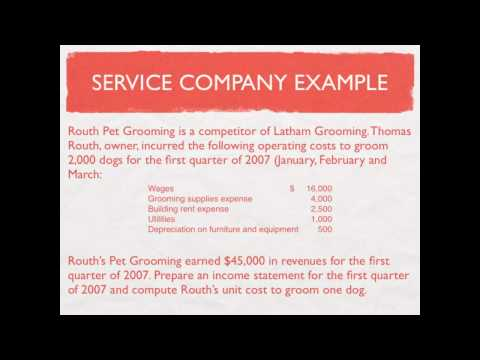 Managerial Accounting: Service Company Income Statement - video