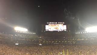 Packers vs Bears Thursday Night Football National Anthem 9/28/2017