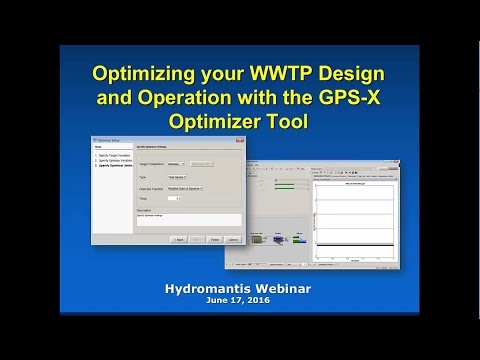 Optimizing your WWTP Design and Operation with the GPS-X Optimizer Tool