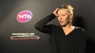 Interview Maria Sharapova (RUS) Final - Porsche Tennis Grand Prix 2014