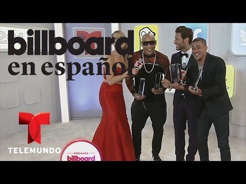 Gente de Zona visitó el backstage de Premios Billboard 2015 y nos cantó un poco de su nuevo tema con Marc Anthony